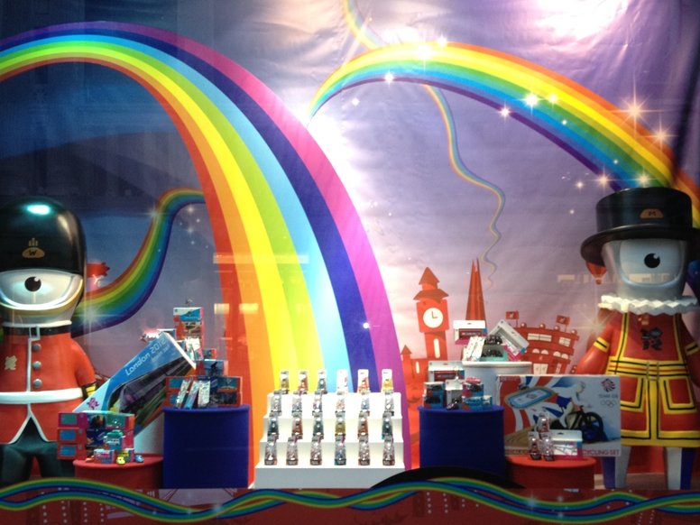 OLYMPIC WINDOW - HAMLEYS  May 2012