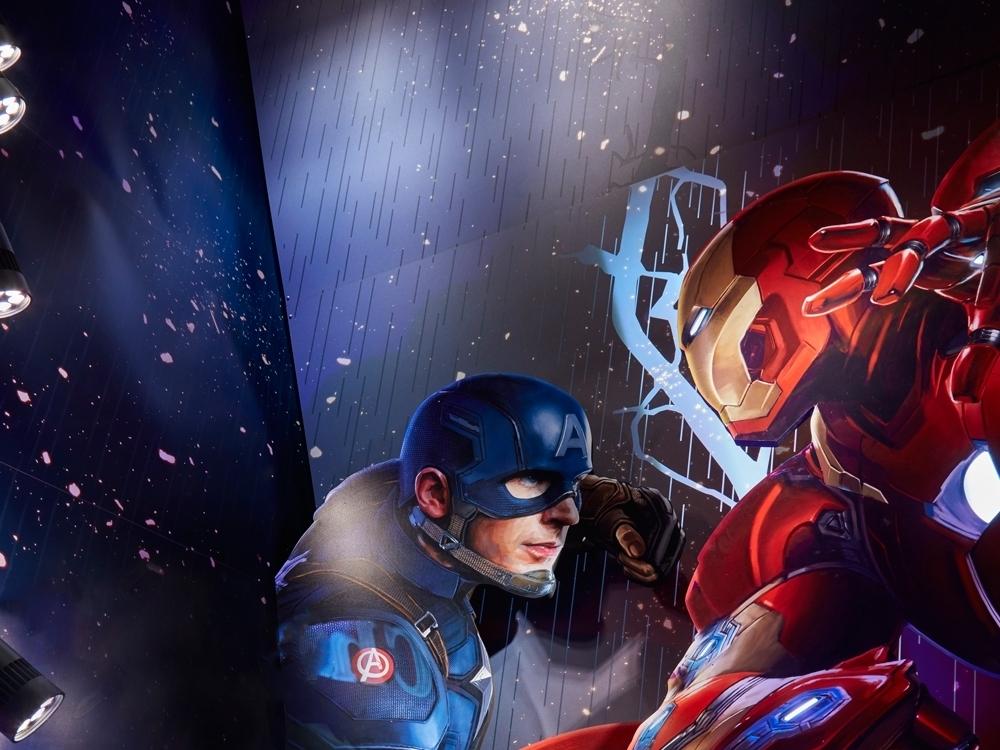 Captain-America,-Civil-War,-Disney-Store-Window-Display,-rain-lighting-effect2.jpg
