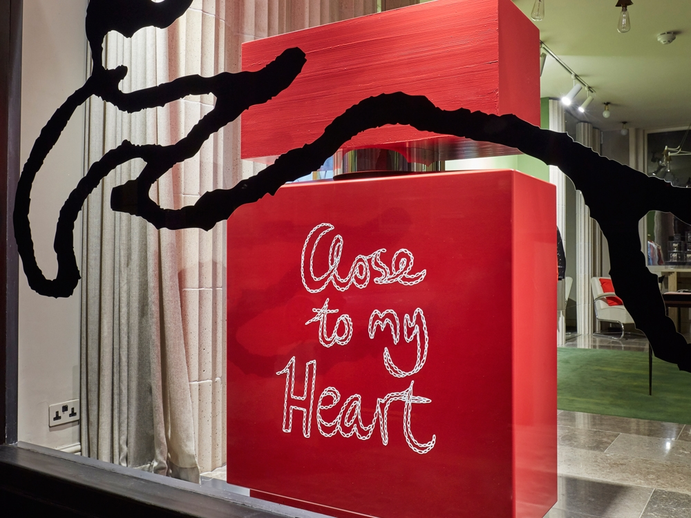 VALENTINES DISPLAY - BELLA FREUD LONDON    February 2017