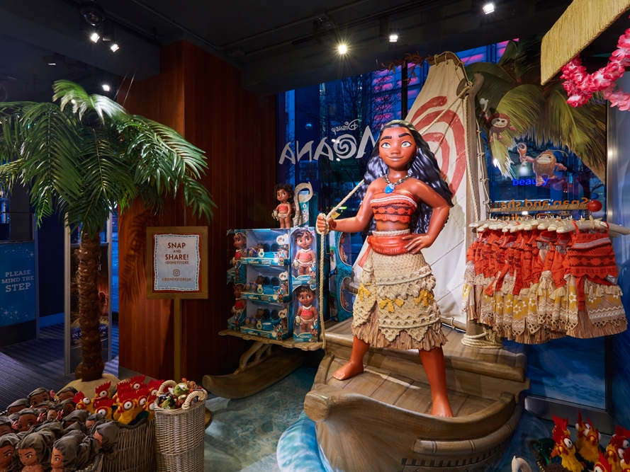 MOANA SCENES & DISPLAYS - DISNEY    January 2017