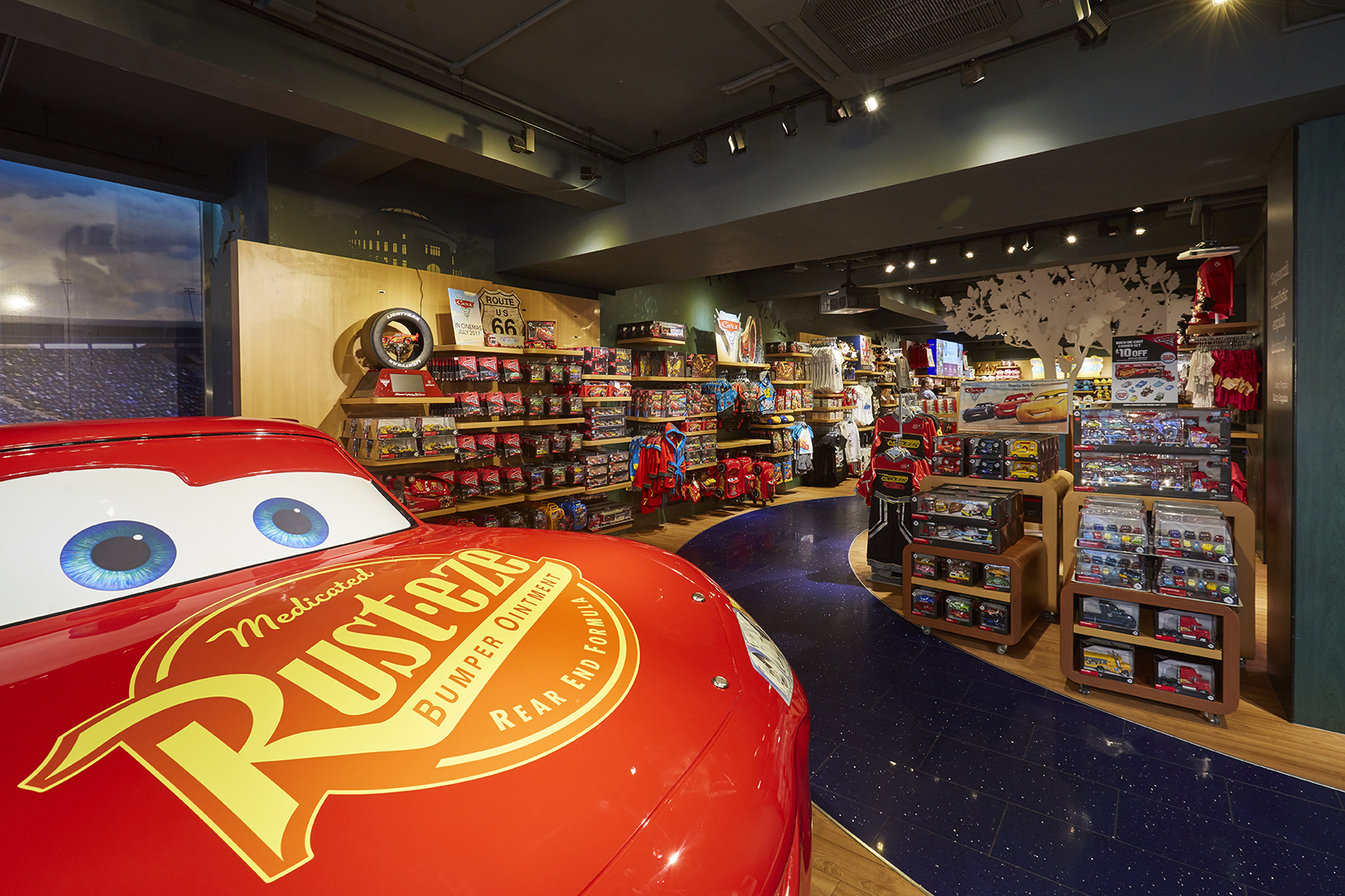 Propability, Disney Store, Lightening McQueen, Prop sticker work.jpg