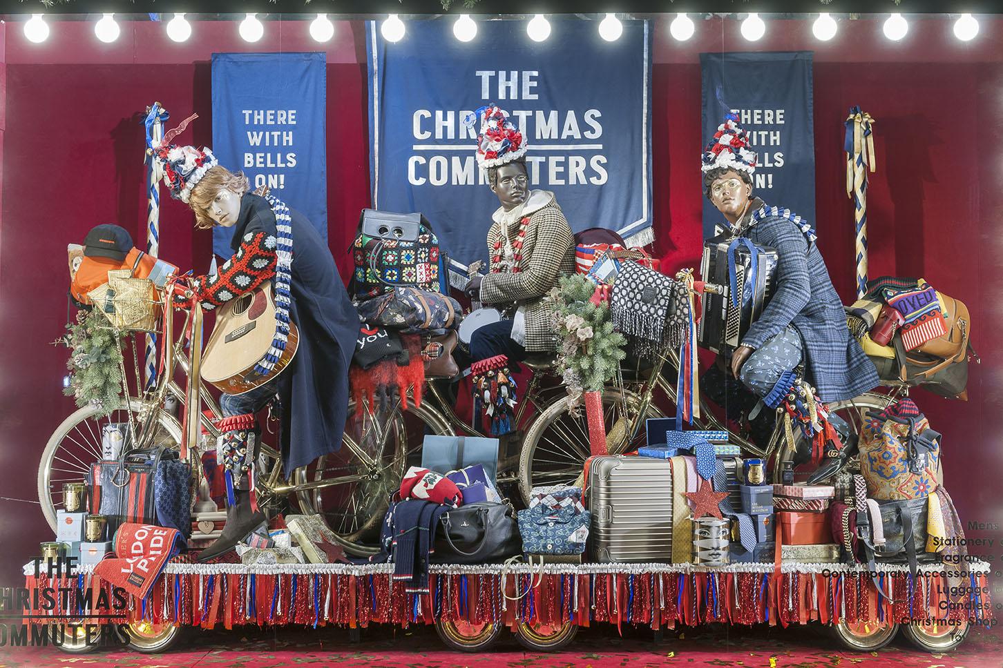 Propability, Selfridges Christmas, Window Displays, Chrome Bicyles, Product Display, Fashion.jpg