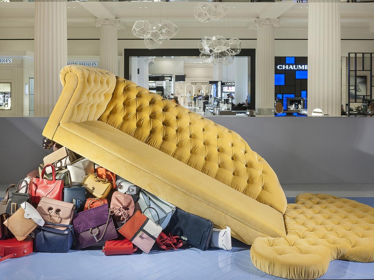 Selfridges, Radical Luxury, Sofa, Window Display .jpg