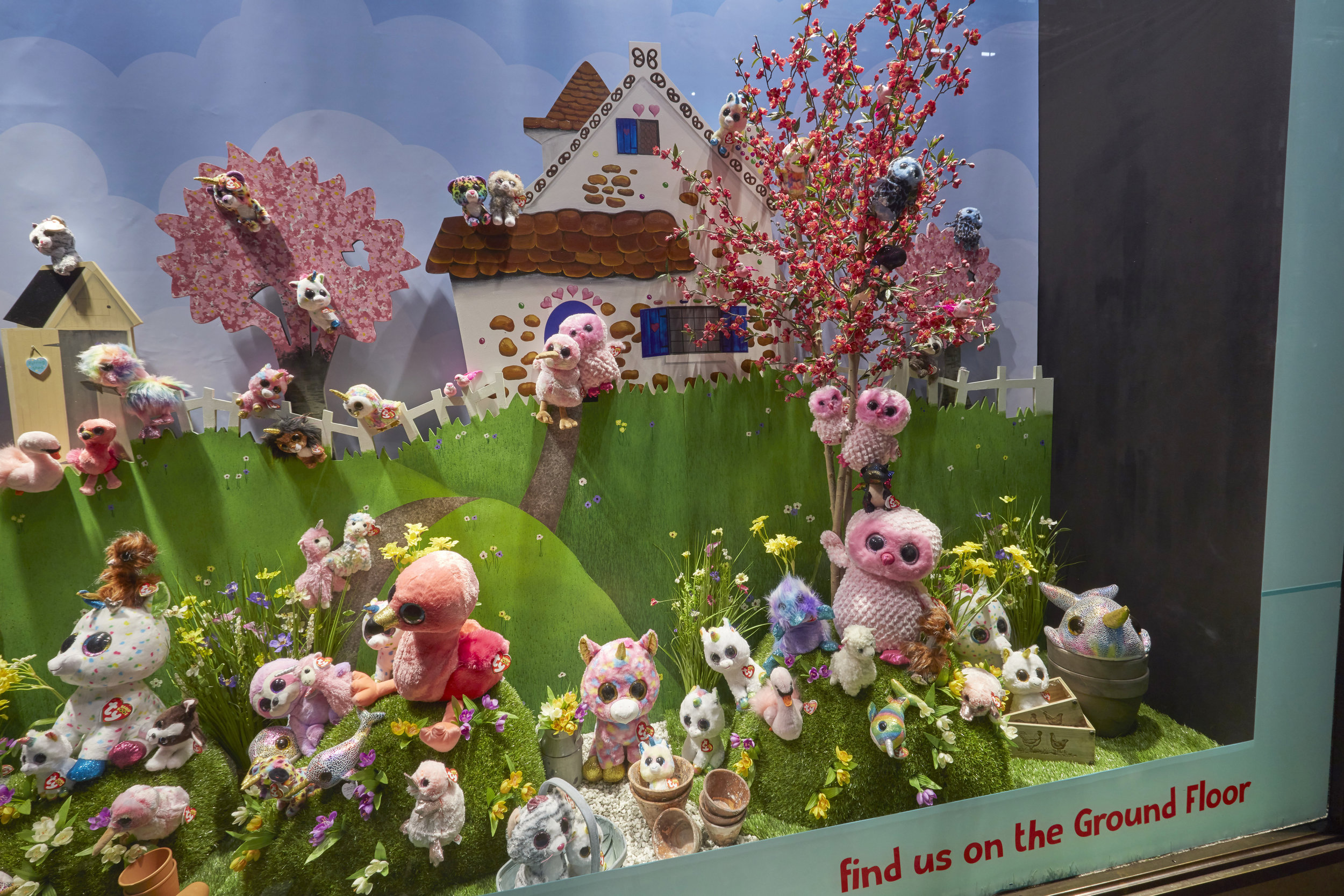 SPRING TY BEANIE BOOS - HAMLEYS, LONDON    May 2019
