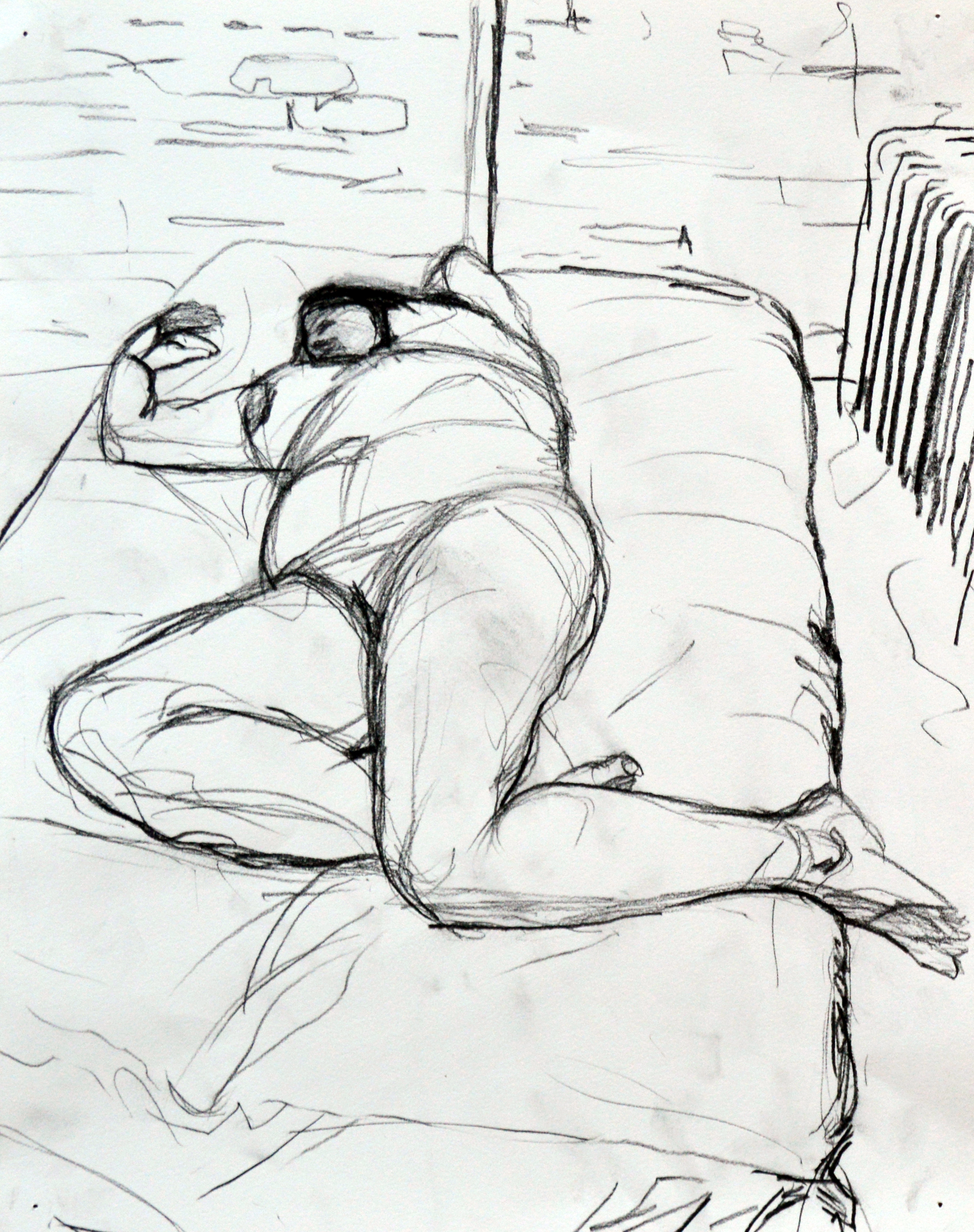 Nude on a Bed