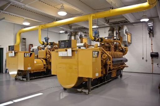 Two of the Three Caterpillar 3520 Landfill Gas engines in place at Southeast Berrien. Each unit can generate 1.6 Mega Watts.