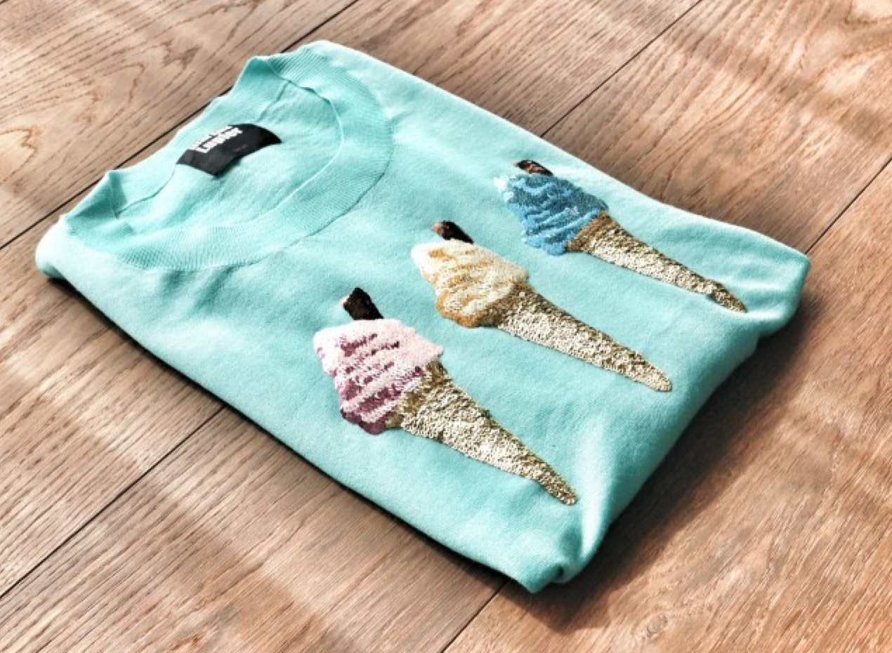 Ice Cream Sweater by  Markus Lupfer .