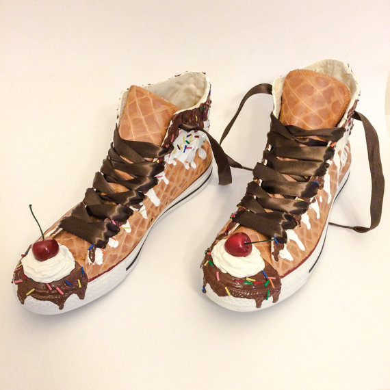 Ice Cream Custom Sneakers by  Converse .
