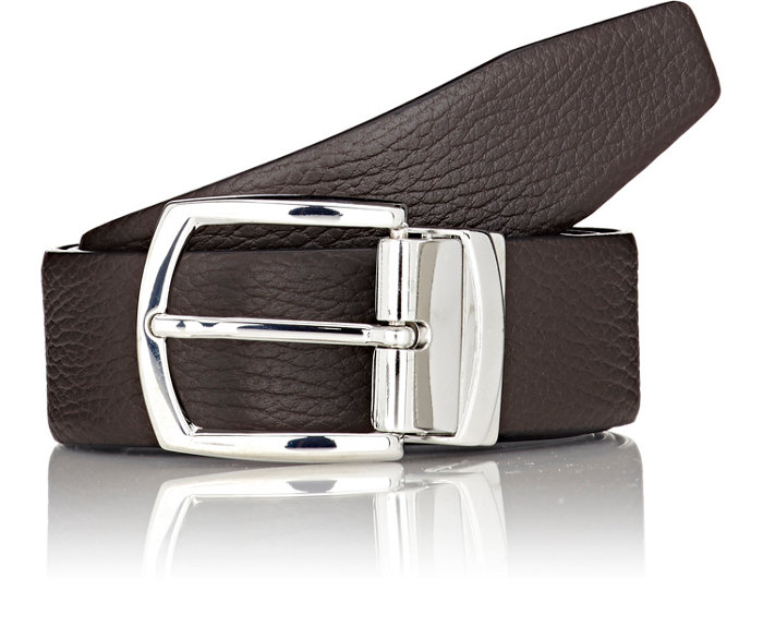 Textured Leather Belt - $195    Available at Barneys