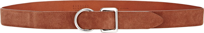 Suede Double Buckle Belt - $150    Available at Barneys
