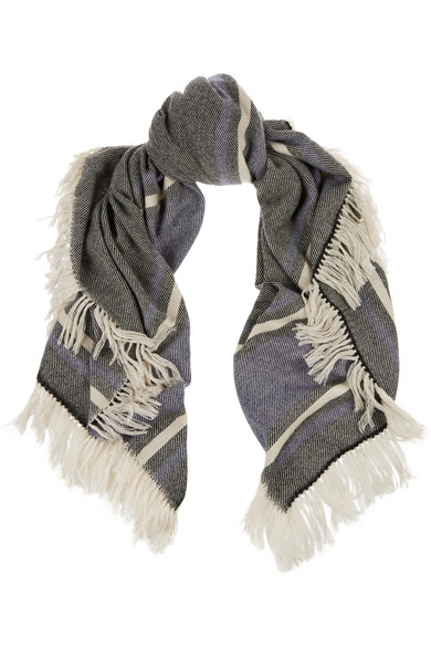ISABEL MARANT Jayna fringed striped scarf