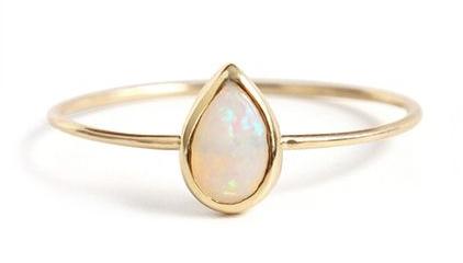 Catbird  Opal Teardrop Ring, $198, available at  Catbird  .