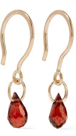 MELISSA JOY MANNING 14-karat gold garnet earrings $190