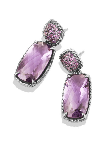 David Yurman  Chatelaine Drop Earrings with Lavender Amethyst and Purple Sapphires $1,950.00