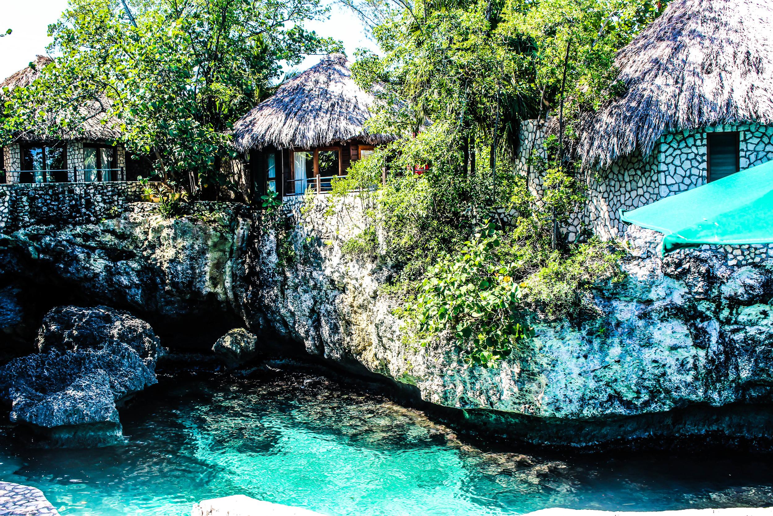 Villas in Rockhouse, Negril, Jamaica. by Nneya Richards