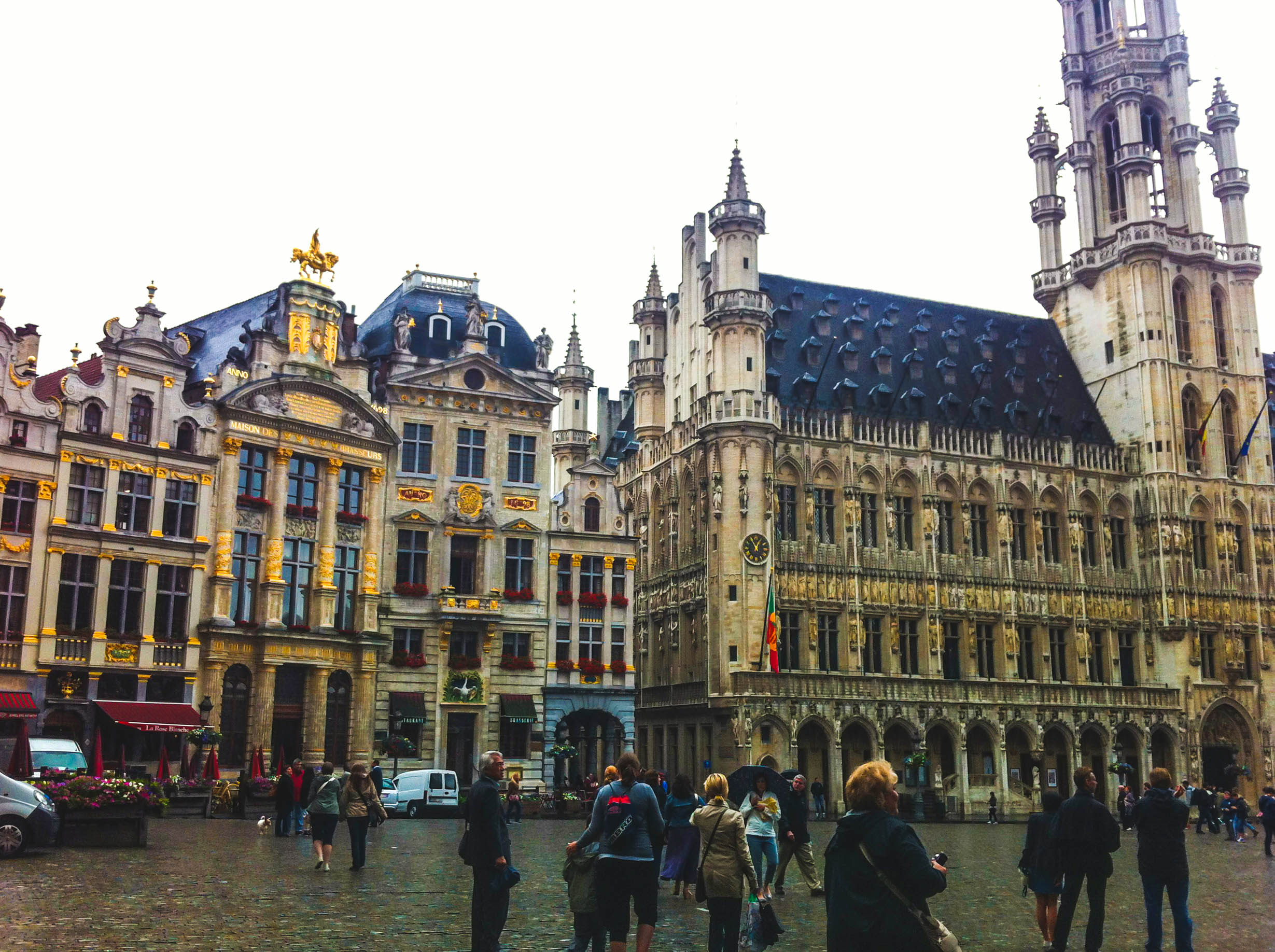 The Grote Markt (Main square) in Antwerp by Nneya Richards