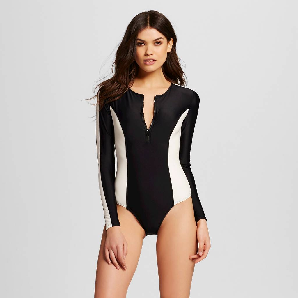 May by Vix  Colorblock Long Sleeve one-piece, $43