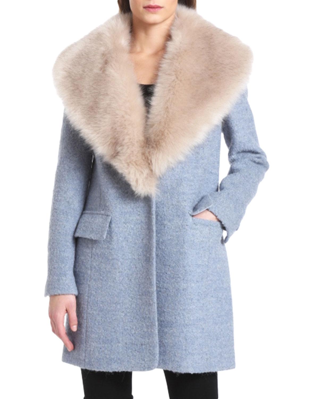Belle Badgley Mischka Holly Coat , $379