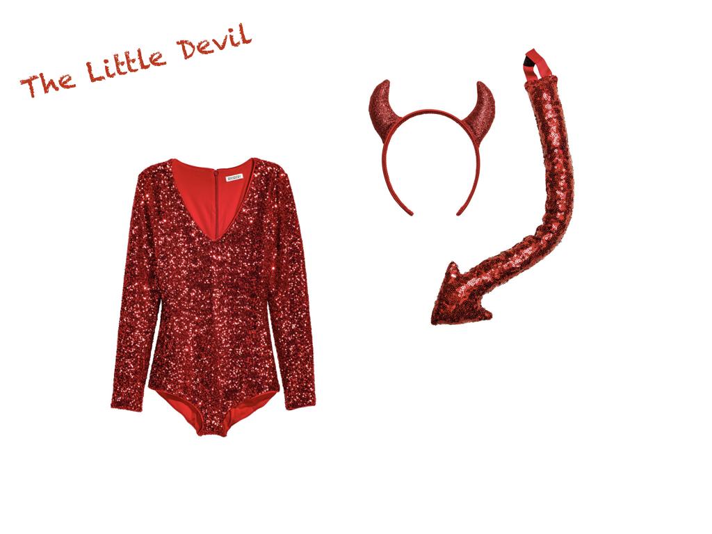 sequined bodysuit,  H&M , $34.99 // headband & tail,  H&M , $12.99