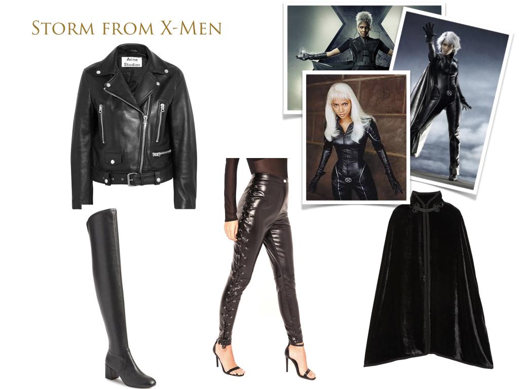 jacket,  Acne Studios , $1,600 // faux leather leggings,  Missguided , $47.60 // cape,  Anna Sui , $559 // boots,  Rebecca Minkoff , $249.95