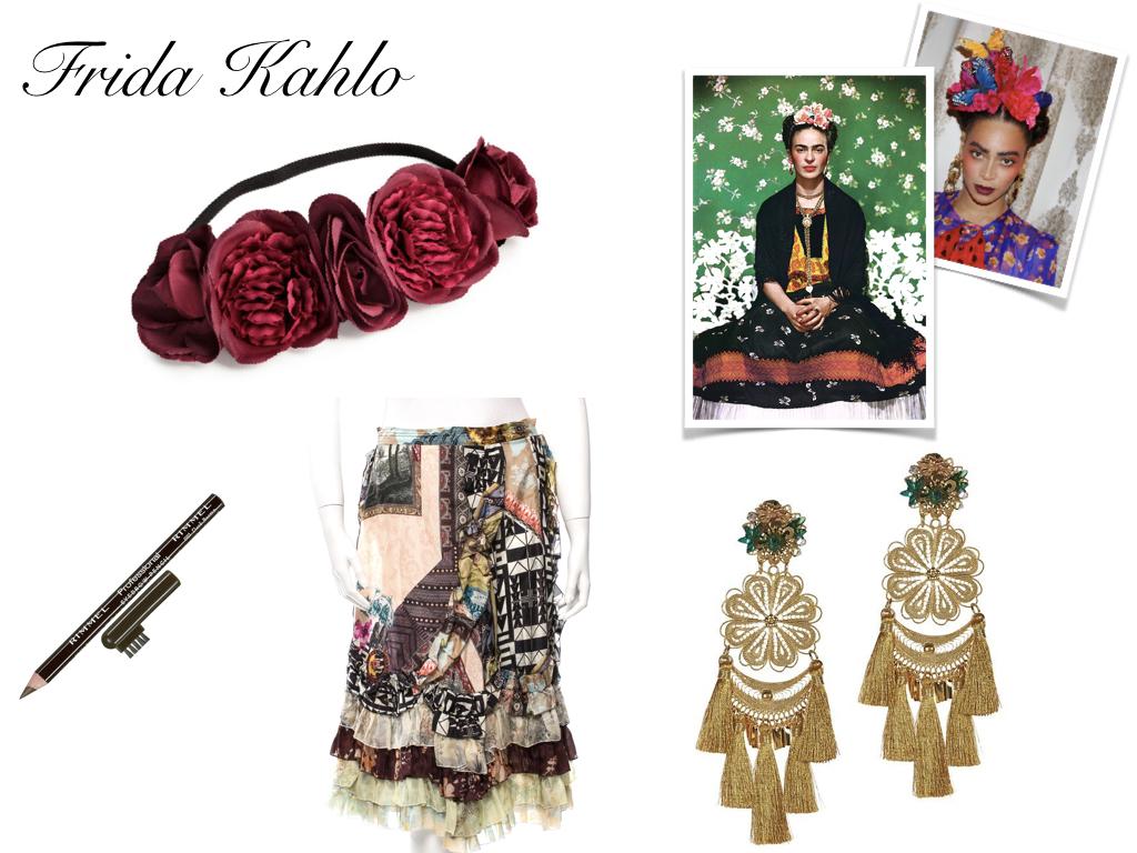 hairband,  H&M , $12.99 // eyebrow pencil,  Rimmel London , $3.99 // printed skirt,  Vintage Christian Lacroix , $75 // earrings,  Mercedes Salazar , $198