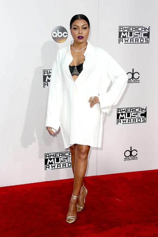 Taraji P Henson looks the epitome of minimal chic in Celine.