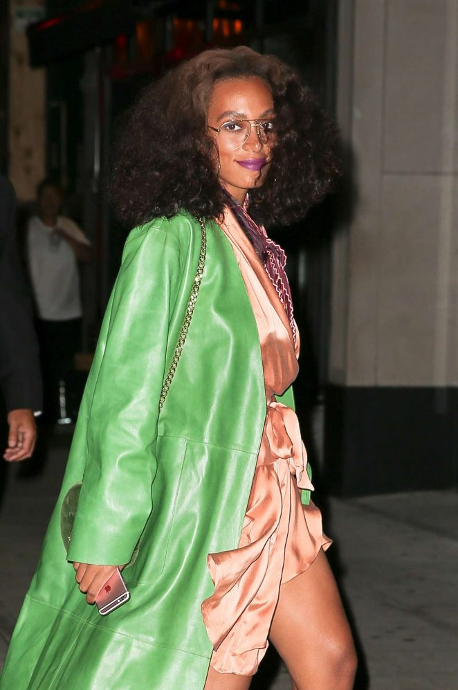 Solange at Beyonce's birthday party this past September