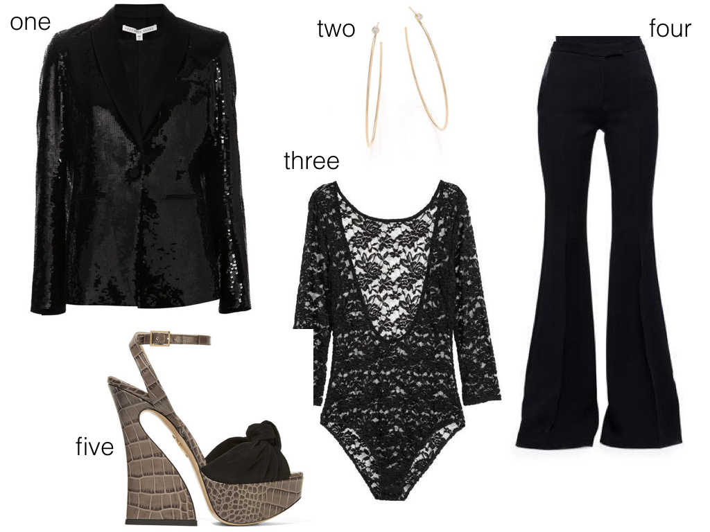one.  Veronica Beard , $340 | two.  Zoe Chicco , $790 | three.  H&M , $12.99 | four.  Alexander McQueen , $628 | five.  Charlotte Olympia , $438