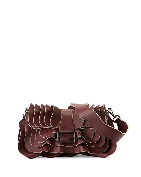 Fendi Baguette Multi-Wave Leather Bag, Bordeaux $4,300    Neiman Marcus