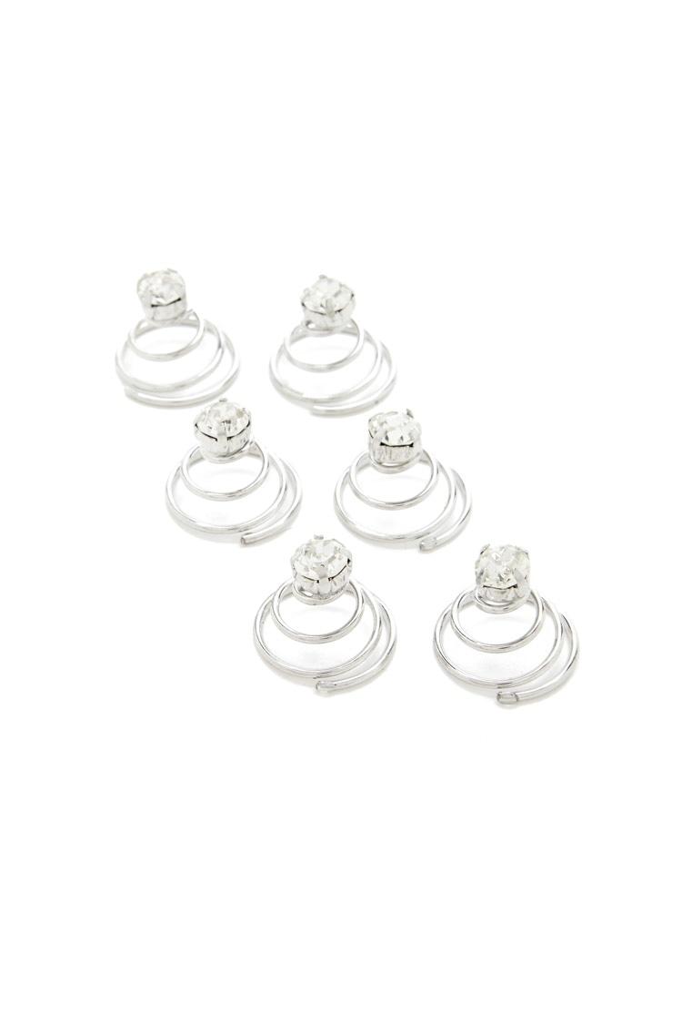 Forever 21 Rhinestone Swirl Pin Set $2.90