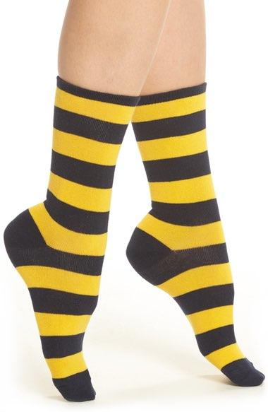 College Rugby Stripe Crew Socks $6