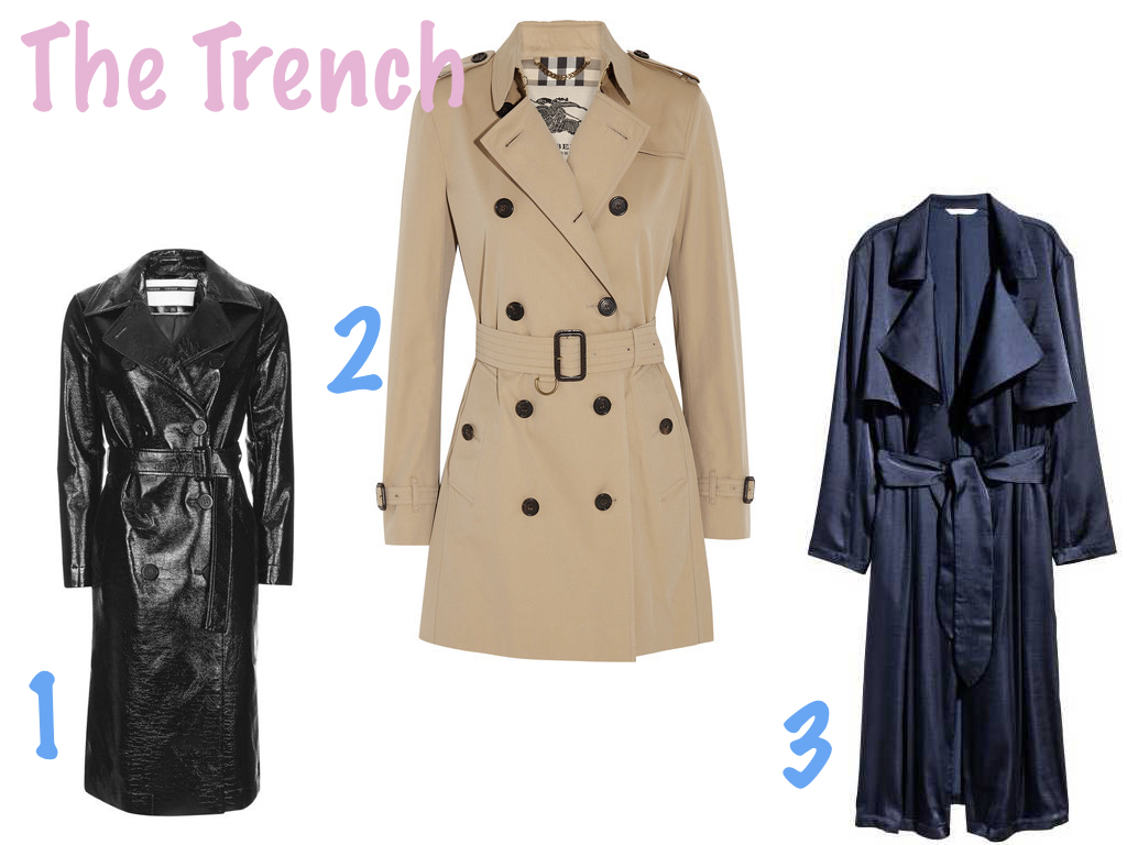 one.  TOPSHOP , $210 | two.  BURBERRY , $1,795 | three.  H&M , $69.99