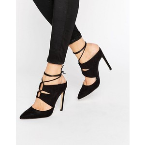 Missguided Lace Up Pointed Heeled Mules $35.50