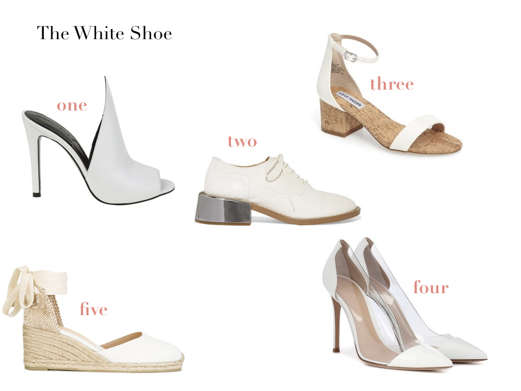 one.  KENDALL + KYLIE , $123 | two.  MM6 MAISON MARGIELA , $392 | three.  STEVE MADDEN , $49.90 | four.  GIANVITO ROSSI , $795 | five.  CASTAÑER , $85.62