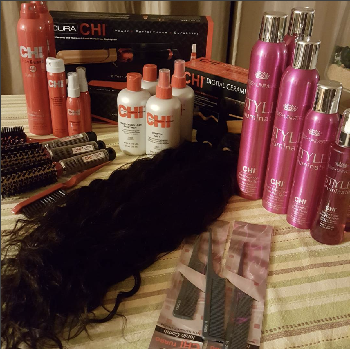 Angela used  Indique's PURE Curly  to create Missy Elliot's look for the shoot!