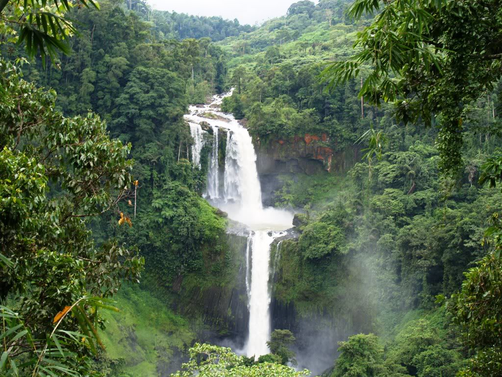 Aerial view of the Tinago Falls