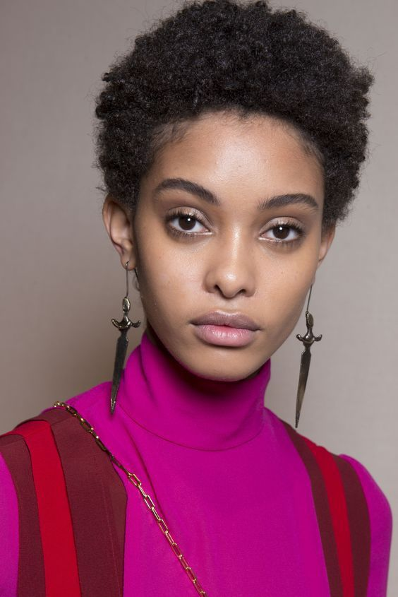 This short curly 'fro is versatile and can be worn to work or when going out for a night of fun!