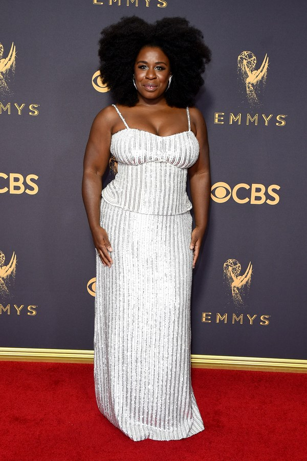 Uzo Aduba in Sally LaPointe and wearing  Indique's BOUNCE Organic Curl !