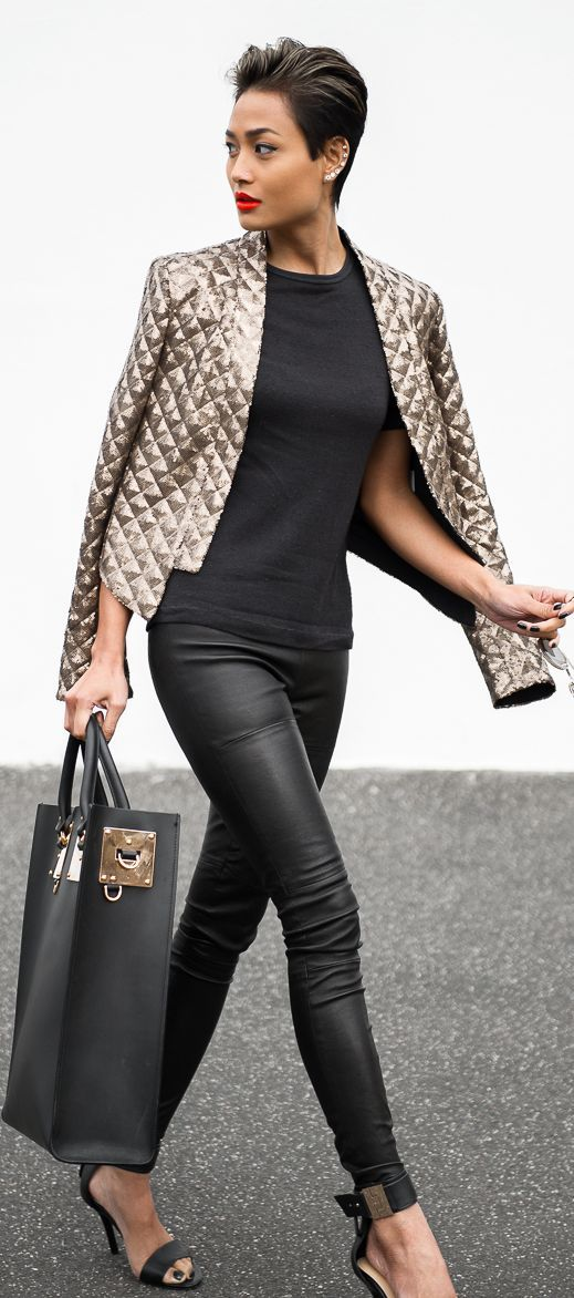 Leather pants are always a holiday hit!