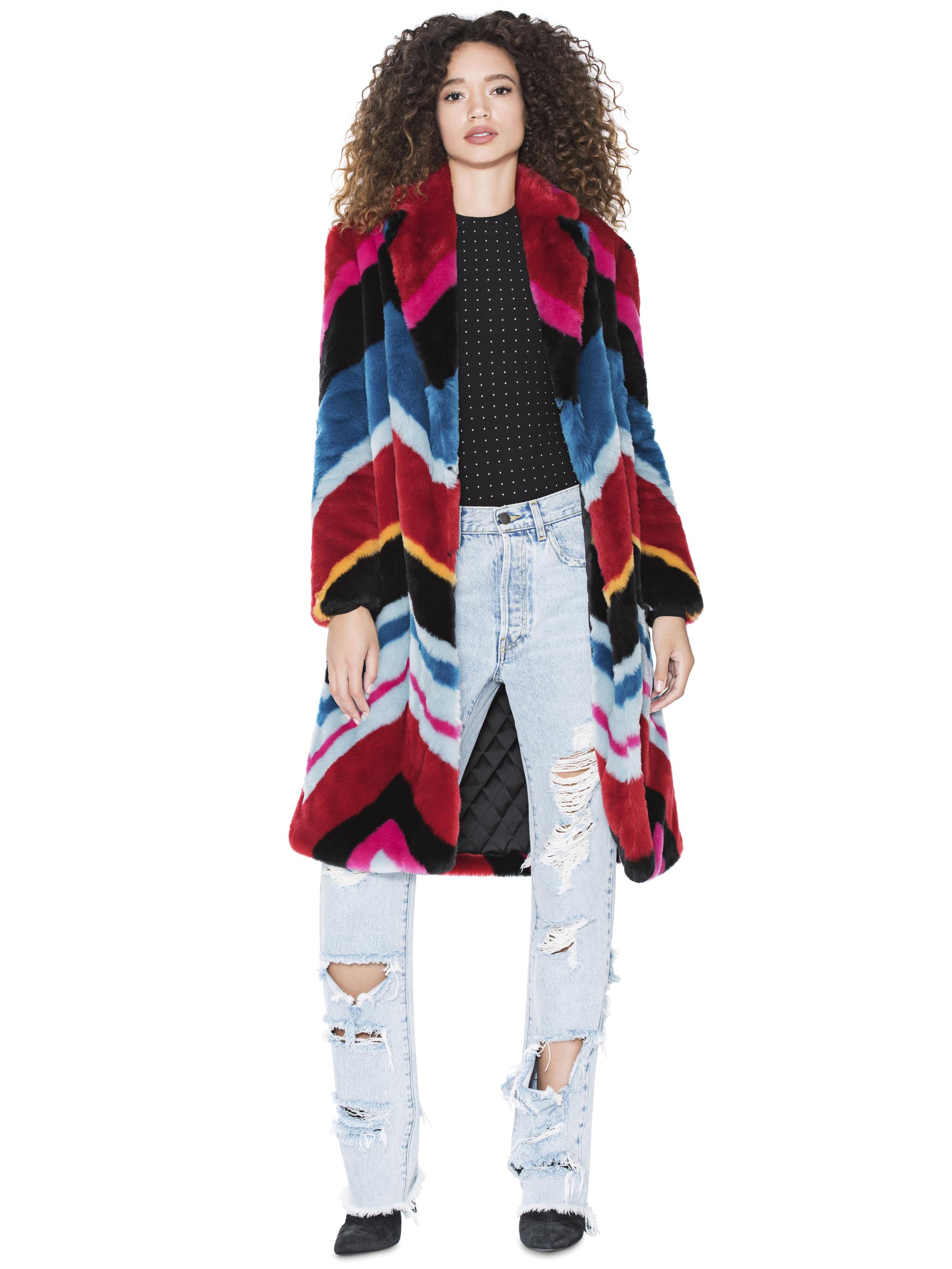 Multicolored Faux Fur