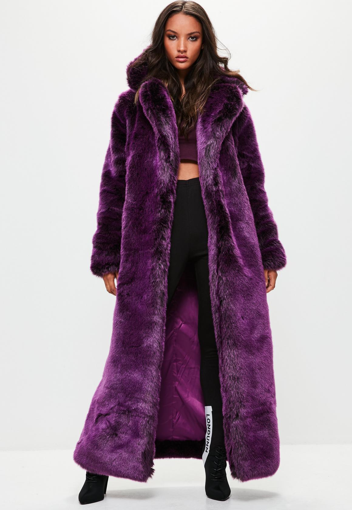 Purple Faux Fur