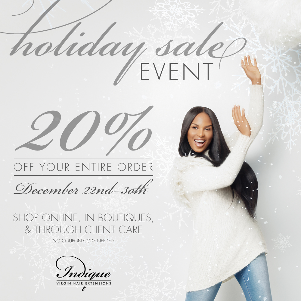Want to Try  Indique ? Experience the Indique Hair at 20% off during the Holiday Sale!