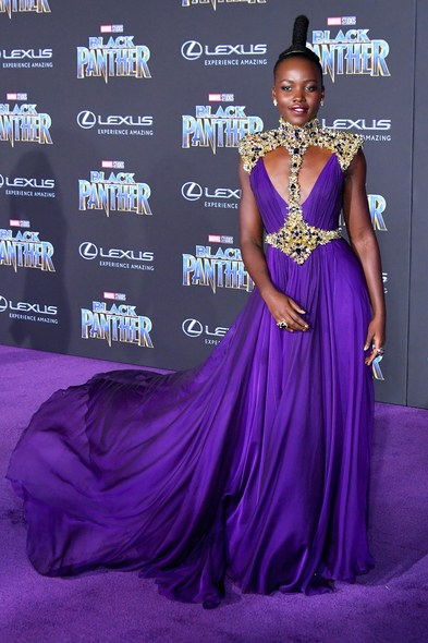 Lupita N'yongo brought it in a rich purple gown that had many thinking she could do a reboot of Zena The Warrior