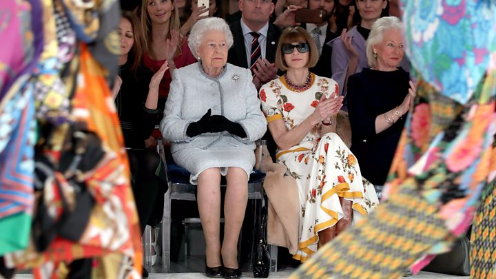 Queen of England Fashion week