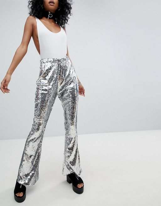 One Above Another Flares In Sequin $72.00 Available at ASOS