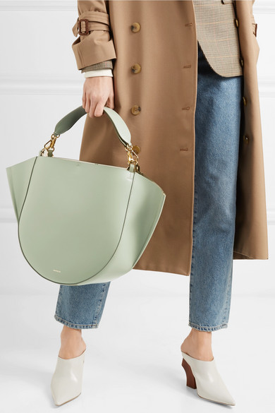 Leather Tote    Wandler Mia leather tote, Available at Net-a-porter.com, $850.00