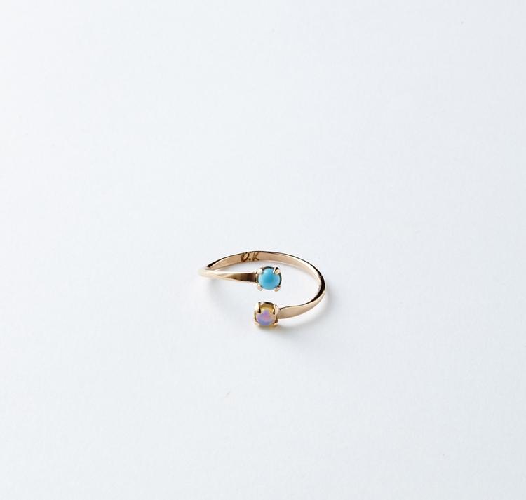 Matching Birthstone Ring     Olivia Kane Best Friend Birthstone Ring, Available at oliviakane.co., $297.00