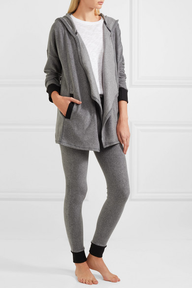 Stretch Loungers Set    DKNY Stretch Loungers brushed-jersey cardigan and leggings set, Available at Net-A-Porter.com, $70.00
