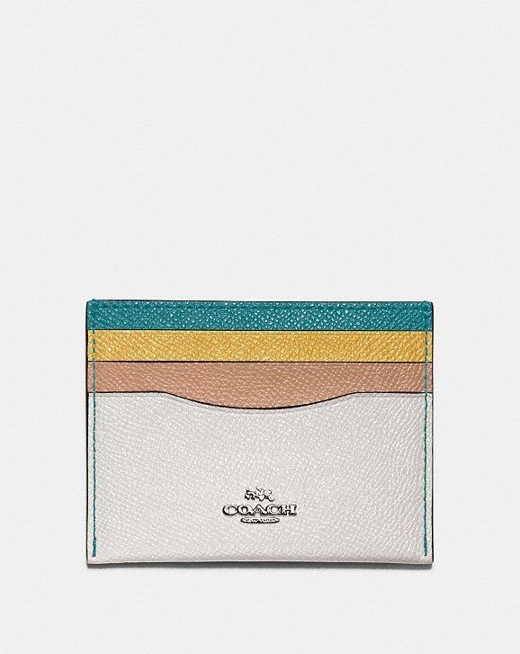 Card Case     Card Case In Colorblock, Available at Coach, $50.00