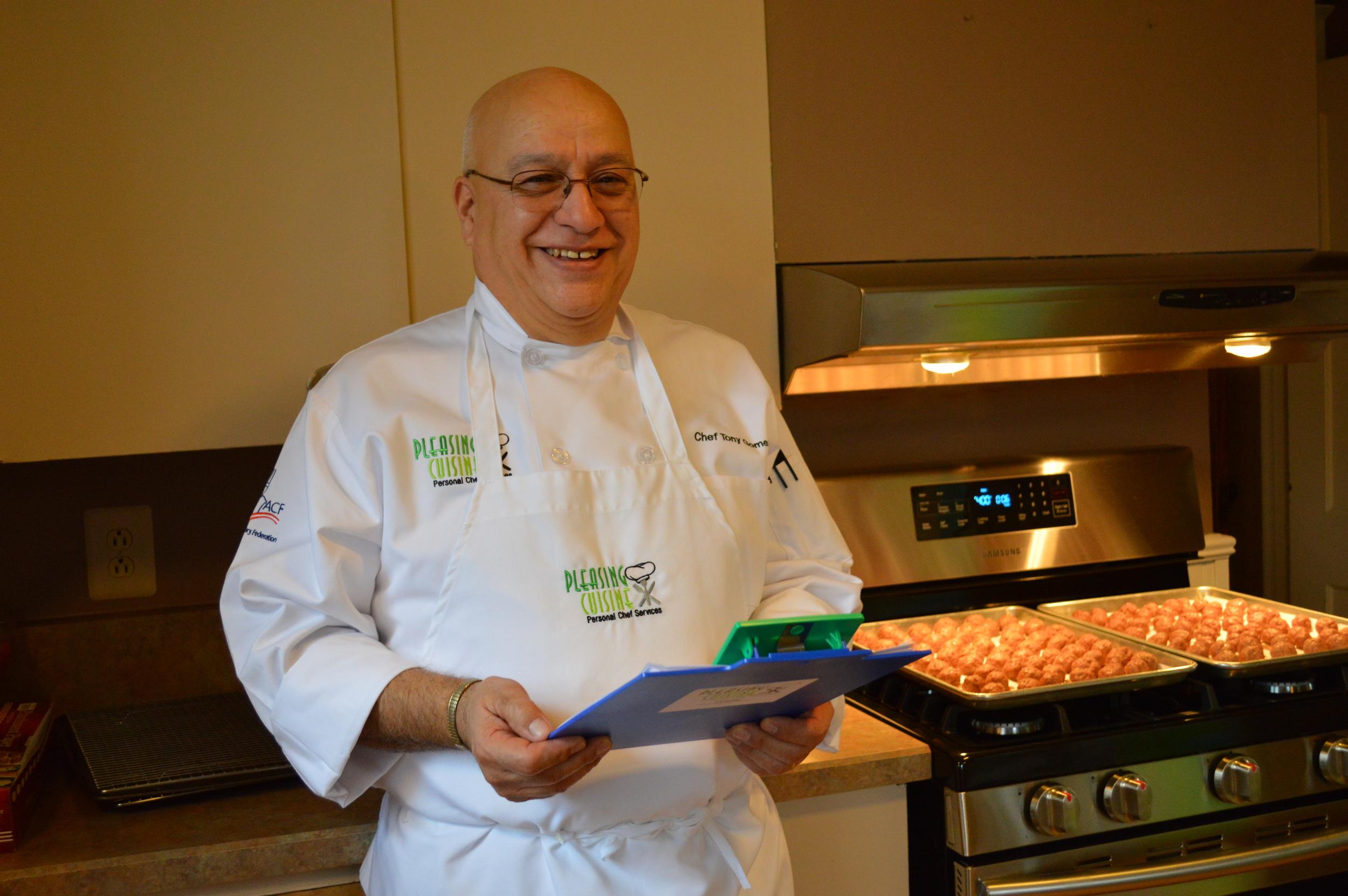 Chef Tony Gomez from Pleasing Cuisine